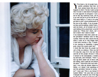 Marilyn Monroe Interview