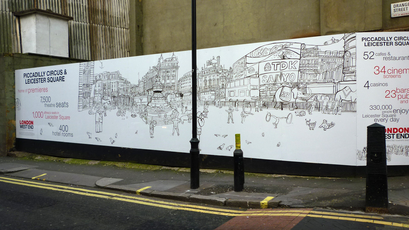 London Hoarding(Piccadilly Circus & Leicester Sq)