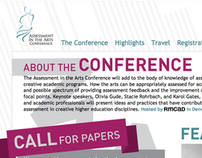2012 Assessment in the Arts Conference Website