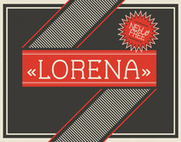Lorena —Free Font