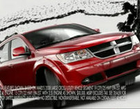 A shiny red Dodge Journey crossover