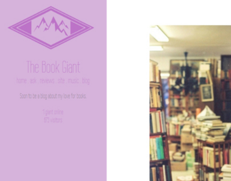 The Book Giant Tumblr Theme