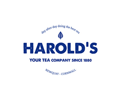 Harolds tea shop - Identity corporate + Branding