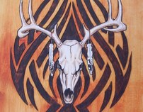 Woodburning and Oilpainted Art