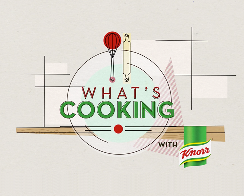 Cooking program Tv motion graphics for Knorr Asia.