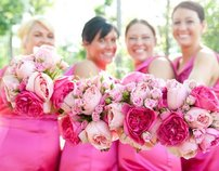 A HOT PINK Wedding