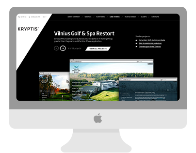 Kryptis web design concept