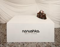 pop-up store interior design for Nanushka