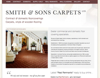 Smith and Sons Carpets Website design