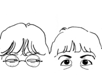 With beatles eyes