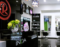 Rumyantsevas beauty salon interior design