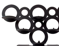 CIRCLES candle holder - laser cut stainless steel