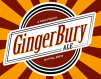GingerBury Ale - Wedding Brew & Glasses