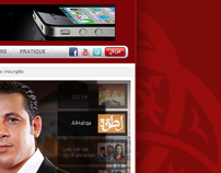 Medi1TV Channel Website (Homepage Design)