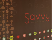 Savvy Coffee & Wine Bar Branding and Collateral