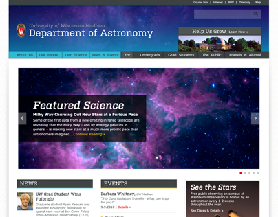 UW-Madison Astronomy Department Website