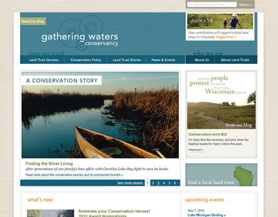 Gathering Waters Conservancy Website