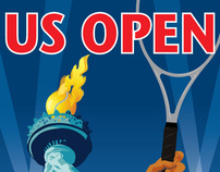 US Open 2007 theme art