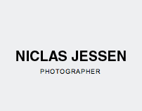 Corporate Website, Photographer Niclas Jessen