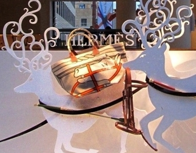 Christmas Carriage - Hermès Window Display
