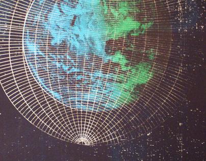 Earth Screenprint  Poster