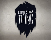 Sony - Lyrics on a Thing