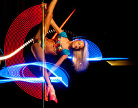 #lightpainting & #poledance