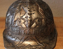 Hammered / Chased Aluminum Hard Hat