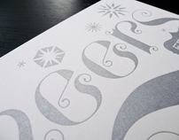 Letterpress Holiday Cheers