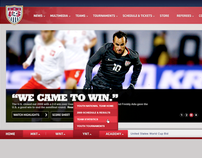 U.S. Soccer National - Web Design & Art Direction