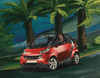 Smart Car Concept Illustration