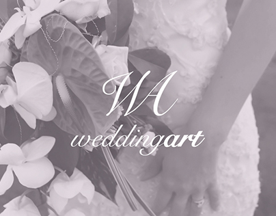 Wedding Art · Identity and web site.