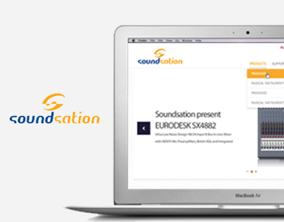 Soundsation CMS Web design