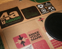 Cardboard speakers design