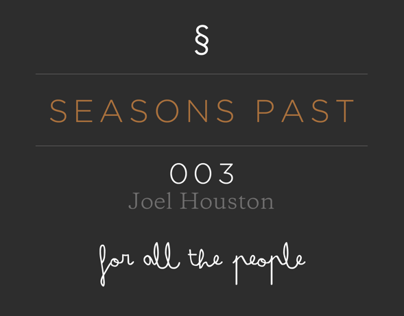For All The People, Joel Houston: Sydney Australia