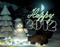 Happy New 2012 - 3D Animation