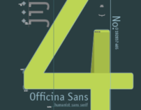 Typographic Poster Set :: Officina Sans