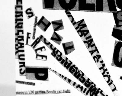 Typographic Collage Booklet