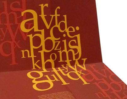 Palatino Typeface Mailer