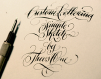 Custom Lettering sketch