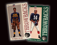NFL Print, Throwbacks Vintage Collection Retail Apparel