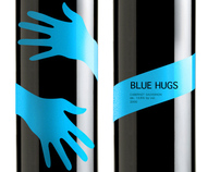 BLUE HUGS tag design