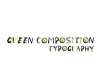 Green Composition Typography