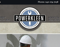 Powerkleen Construction Services: Website Design