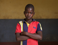Portraits at the male boarding school  in Mozambique