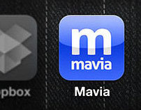 Mavia iPhone app UI