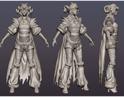 Polycount Brawl: Hilde