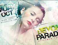 Beyond Paradise Party Flyer