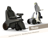 Standing power wheelchair design