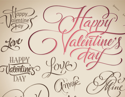 Valentine Calligraphy Collection